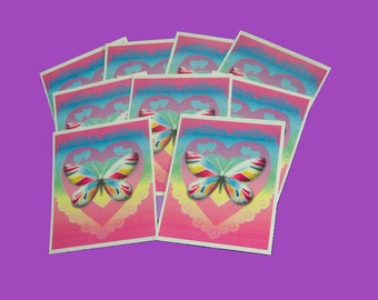 15 Thank You Cards. BUY 15, 30, 45 OR 60 Hearts and Butterfly Thank You Tags. 5058