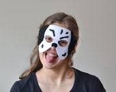 Dalmatian Felt Mask for Children, Kids Dog Halloween Carnival Mask, Dress up Costume Accessory, Pretend Play Toy for Girls Boys Toddlers
