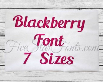 Blackberry Embroidery Font