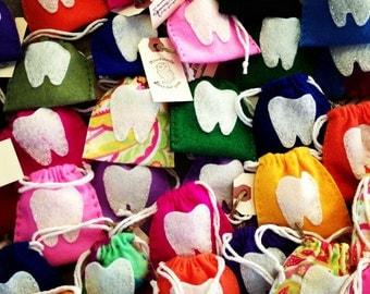 Felt Tooth Fairy Pouch Choose Colour