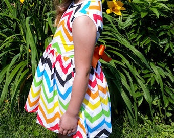 Rainbow Chevron Dress