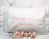 Reserved Listing for ackeroo, Personalized Smocked Pillow Case, Pink, Baby Girl, Little Girl
