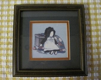 Glynda Turley 1985 Amish Ragdoll Small Framed Print Signed