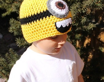 Minion Hat Crochet Pattern Instant Download 5 sizes included