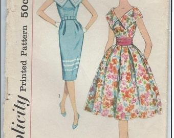 Simplicity 2910 - 1950s Vintage Dress Pattern - Size 14/34 Bust