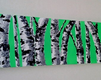 Birch Tree Art- Original Oil Painting