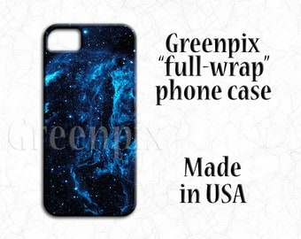 Space iPhone 6 6S case, astronomy i Phone 5 cover, nebula, galaxy, stars, astrophotography, Samsung Galaxy S4 S5 S6, blue