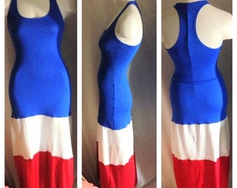 July 4th Independence Day Maxi Dress with Racer back or Full Back / 4th of July