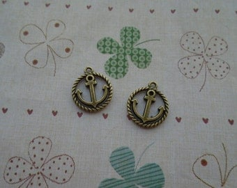 20pcs 18mmx16mm Anchor Antique Bronze Retro Pendant Charm For Jewelry Pendant