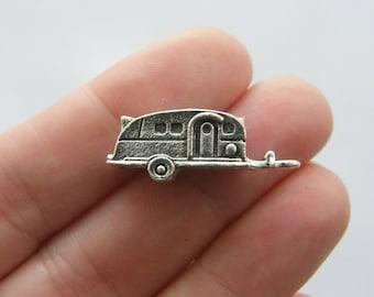 BULK 20 Caravan charms antique silver tone TT69