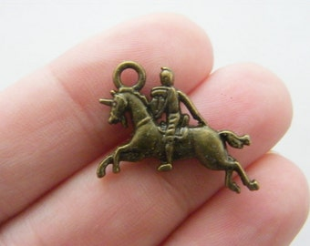 8 Knight charms antique bronze tone BC152