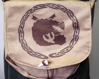 Boulder Dragon Crest Satchel Made to Order