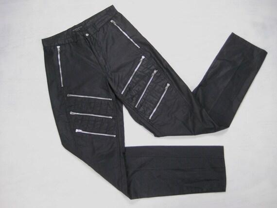 bugle boy zipper parachute pants vintage 1980s mens unisex