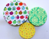Reusable Bowl Cover, BPA Free Food Cover, Kitchen Aid Bowl Cover, Kitchen Aid Cover, Eco Friendly Bowl Cover, Apples & Damask