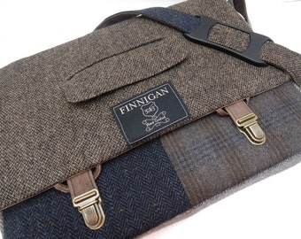 "Messenger Bag, Mens laptop Bag, Womens Messenger Bag,  15""  Macbook Pro Laptop Sleeve, Courier bag, tote bag, Recycled Suit Coat, Upcycled"