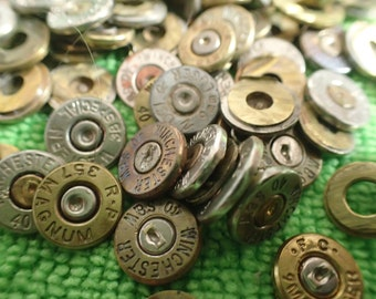 10 super thin Bullet casing cabochons...genuine cut bullet casings ready for crafting