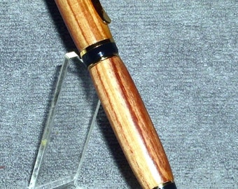 24kt Gold Cigar Twist Pen - Tulip Wood