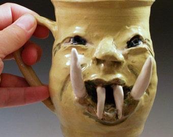 Monster Mug with Great Big Teeth