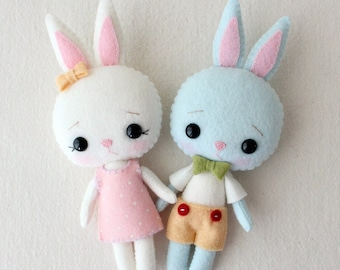 Pocket Bunny pdf Pattern - Bugsy and Marzipan