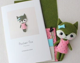 Twizzle Pocket Fox Pattern Kit