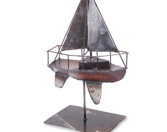 Sailboat Sculpture Tabletop Art Boat