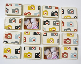 Wooden Toy-Camera Gift-Custom Matching Game / First Birthday Gift-Unique, Personalized Children's Gift-Birthdays / Stocking Stuffer