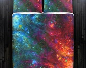 Fire Ice Outer Space Galaxy Duvet Cover Bedding Queen Size King Twin Blanket Sheet Full Double Comforter Toddler Daybed Kid Teen Dorm