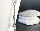 Purple Czech Glass Bead Necklace - C.382