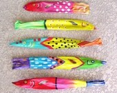 Custom Order for byd123 Tropical Fish on Palm Seed Pod Hand Painted