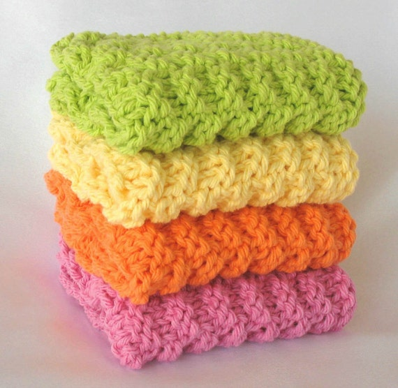 Knit Dishcloths Cotton Washcloths Face Wash Cloth