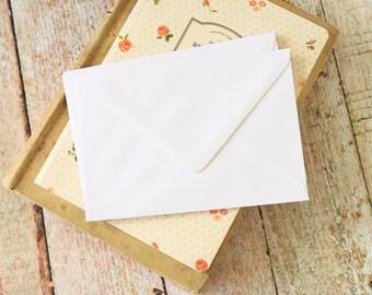 plain Smooth White C6 envelopes