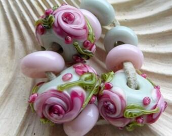 Destash Flower Set Lampwork beads and focals