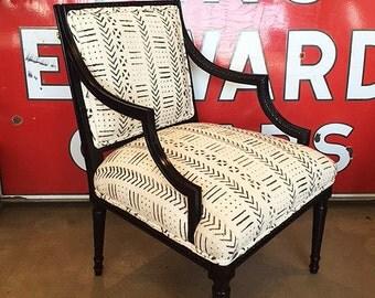 Antique Mud Cloth Chair