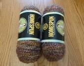 RESERVED for LINDA - Homespun Yarn from Lion Brand - 2 skeins Tumbleweed