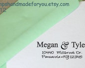 Modern Caligraphy Custom Stamp Personalized Self ink Custom Made Return Address Rubber Stamp great gift