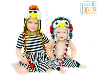 PATTERN - Happy the Penguin Hat - Crochet PDF Pattern by Ira Rott