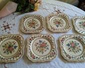 Chintz Royal Doulton The Cavendish square plates set of 6