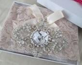 Blush Wedding Garter Set, Powder Pink Lace Bridal Garter, Pink Prom Garters, Bling, Rhinestones, Country-Rustic- Vintage Bride