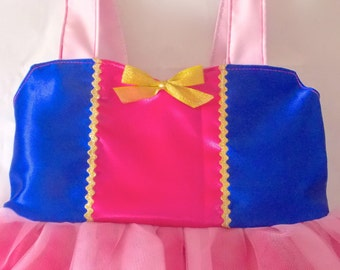 Mulan Costume: light pink, hot pink tutu dress, blue & gold, Princess Birthday Party, Vacation, Easy on and off, princess dinner, halloween