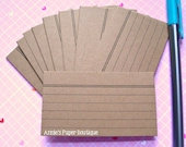 Mini Index Card - Kraft (24) - Notes, Planners, Stationery