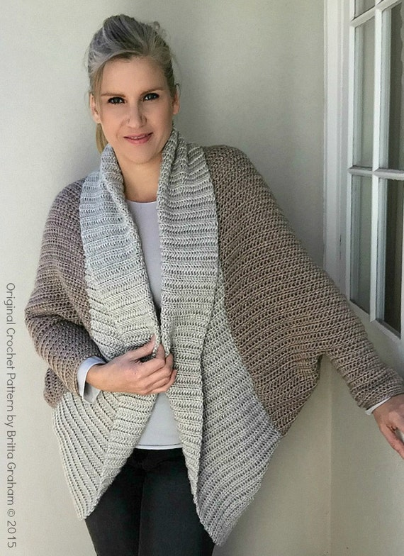 Crochet Shrug Pattern Oversized Sweater Cardigan Crochet