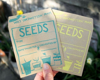 Starburst Seed Saver Envelopes - Seed Envelopes - Screen Printed By Hand