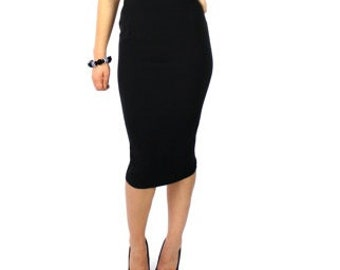 Custom Made  Classic Pinup Highwaisted   Fitted Pencil Skirt