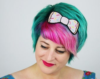 Donut Bow Headband, Fast Food