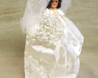 Bride Doll , Bridal , Wedding , Wedding Dress , Handmade , Carnival Doll , Collectible Dolls , White Dress , Wedding Bouquet , Wedding Doll