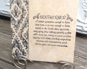 Southerner-  tile with Stand included
