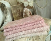 Special listing for Carol - Viscose german for making an artist bear or elephant hand dyed pink size 1/8 metre 18 x 19.5""