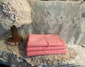 """Viscose German for making an artist bear, Bunny or elephant colour is watermelon pink 1/8 metre 18 x 19.5"""""""
