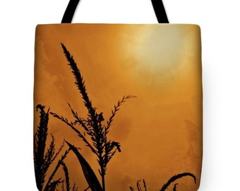 Corn Field Haze Tote Bag