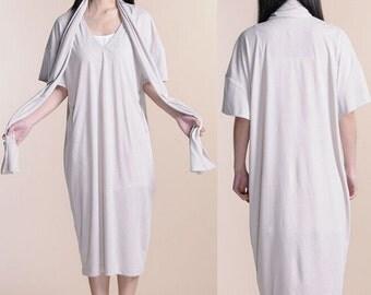 Grey collar dresses